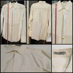 Giorgio Armani Cotton Bib Front Tuxedo Shirt,
